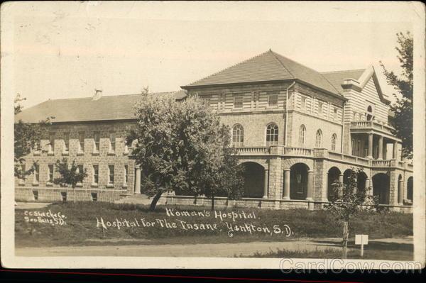 Womans Hospital Hospital For The Insane Yankton SD