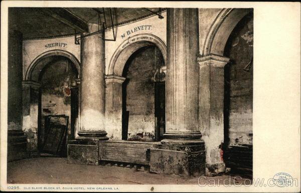 Old Slave Block St Louis Hotel New Orleans LA Postcard