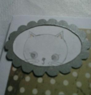 kitten one for framed cat card