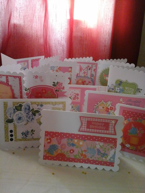 lots of cards made with gift 2