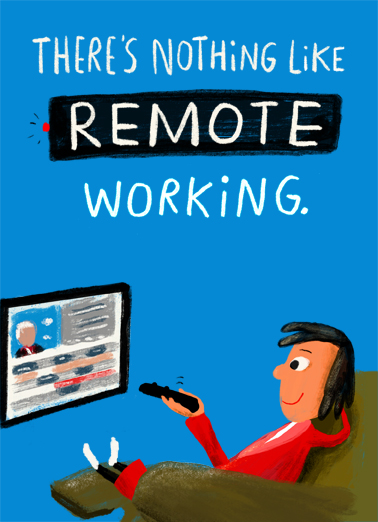 Work From Home Cards Funny Cards Free Postage Included