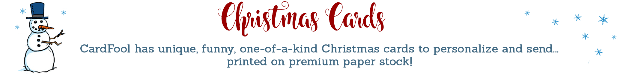 Christmas Cards - Funny, one-of-a-kind Christmas cards printed on premium paper stock.