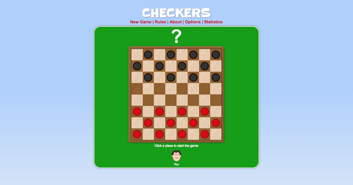 Checkers Play It Online