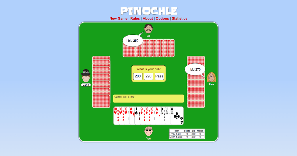 Pinochle Online Game Card