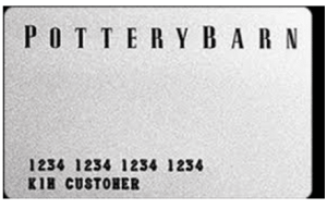 Pottery Barn Credit Card