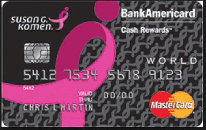 Susan G. Komen Bank Americard Credit Card