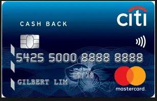 Citi CashReturns MasterCard