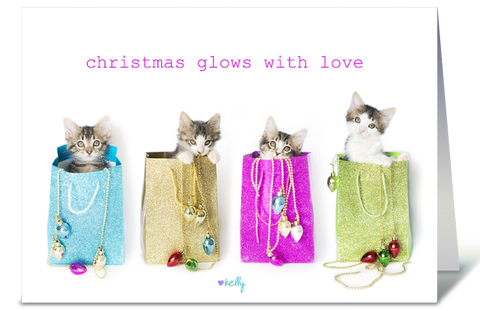 Christmas Glows with love Kittens