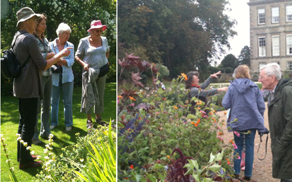Members on a Day Trip with the Cardiganshire Horticultural Society who meet and tour from Aberystwyth