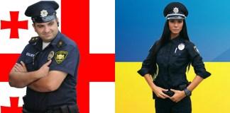 Полицейские Грузии и Украины