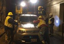 Кроссовер Mitusbishi заехал в трамвайный тоннель в Торонто