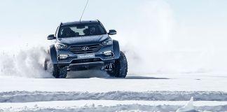 Арктический Hyundai Santa Fe