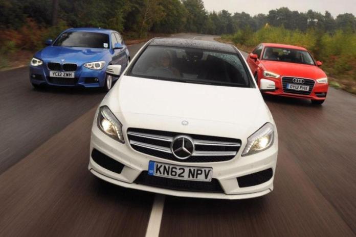Mercedes, Audi, BMW