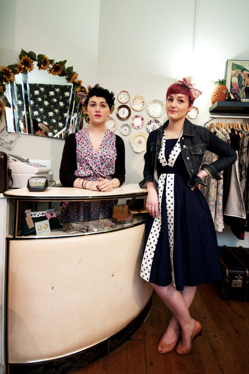 Lowri and Nia from Looby Loo's Boutique