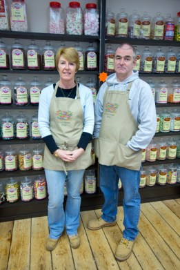 Deina and Steve Price, owner of Price's Sweets