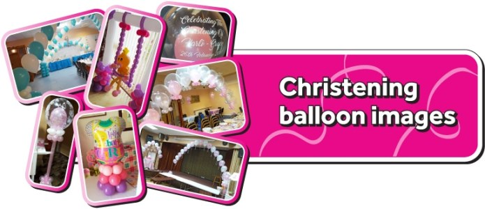 Christening Balloons By Cardiff Balloons