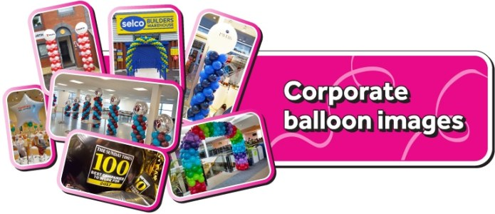 Corporate balloon images and ideas