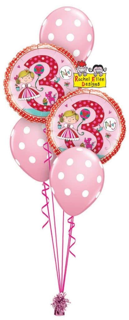 Rachel Ellen Birthday Princess Polka DOts Classic Image