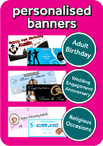 Cardiff Balloons Personalised Banners