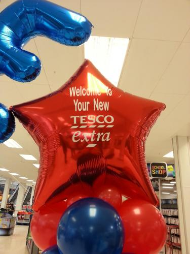 Personalised Balloon Topper for TESCO