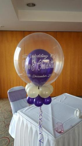 Personalised Heavenly Bubble From Cardiff Balloons