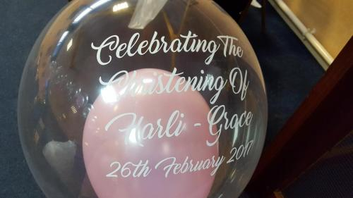 Personalised Heavenly Bubble For Christenings From Cardiff Balloons