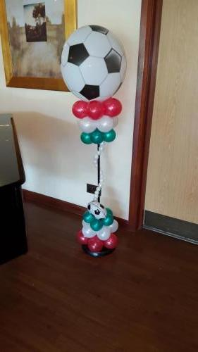Large Football Pillar With Bubble Twists