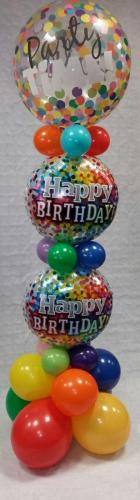 Party Time Confetti Tower. Cardiff Balloons Offering Birthday Balloons
