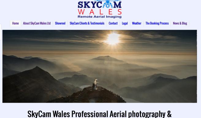 Skycam Wales UAV Imaging Cardiff Cyclist
