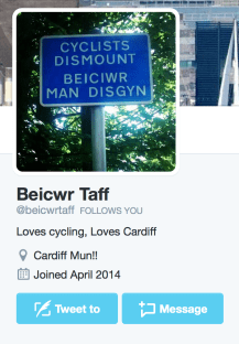 Cardiff Cyclist who's who cycling community beaicwr taf