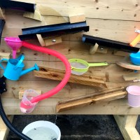 A great outdoor toy! Water wall from Cardiff Mud Kitchens – review