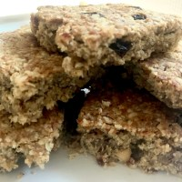 This week we're eating… healthier banana, peanut butter and raisin flapjacks