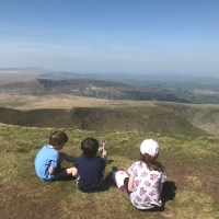 Climbing Pen y Fan mountain with children
