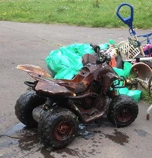 An electric quad bike
