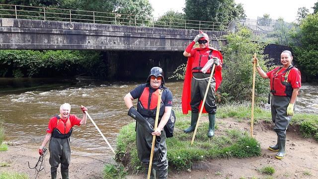 Darth Wader and the river crew