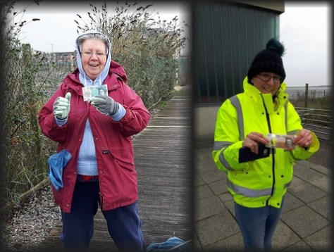 Two volunteers found £15 in cash