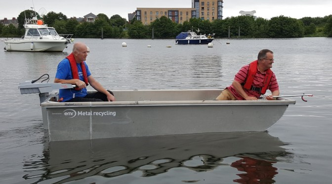 Dave & Chris in CRG's new boat