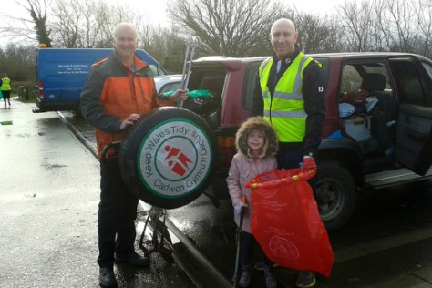 Tom Shanklin and daughter Rosie, with CRG Treasurer Dave King