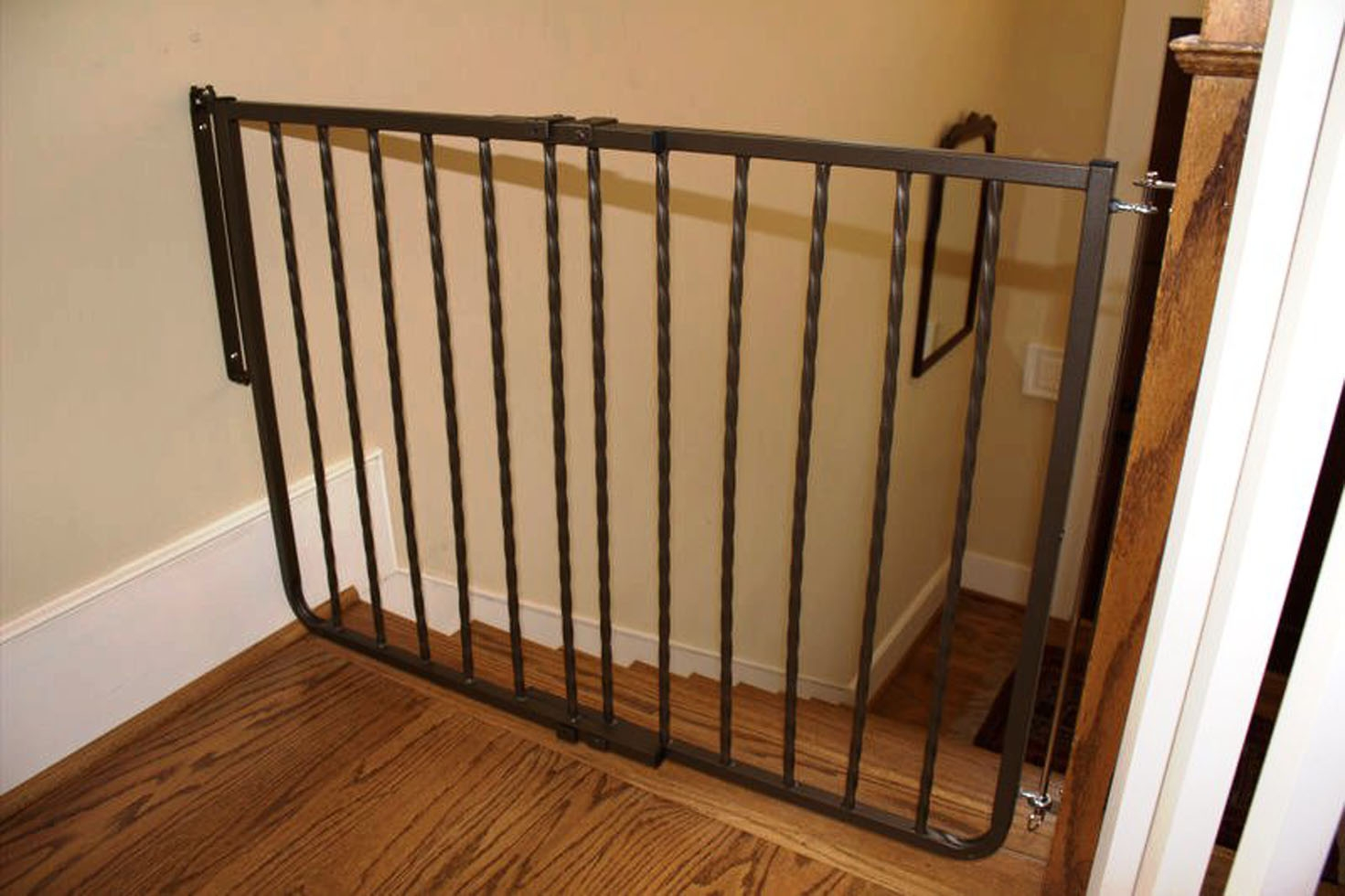 Wrought Iron Decor Gate Baby Gates Safety Gate Cardinal Gates | Steel Gates And Stairs | Dreamstime | Handrail | Stainless Steel | Fence Gate | Egress