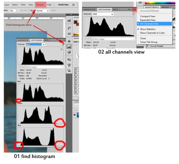01 find histogram - 02 all channels view