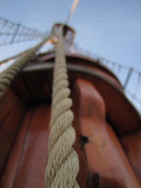 Ropes hanging on the mast