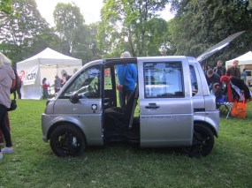 Environmental car (more like an environmental friendly death trap) at the environment festival in Sofienberg park.