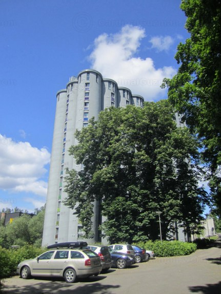 The old silo at Grünerløkka - now a place where students can rent apartments.