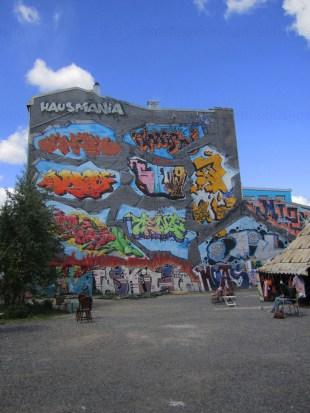 Legal graffiti wall at Hausmania.