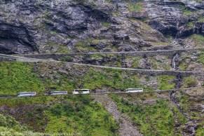 Trollstigen is a famous zigzag road.