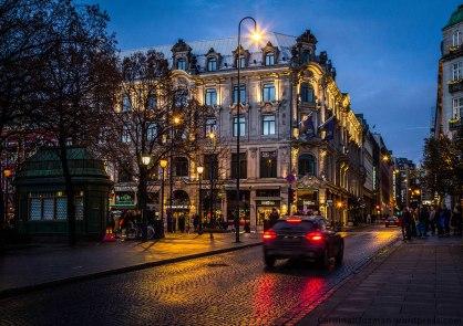 Oslo street scene. December 2014.