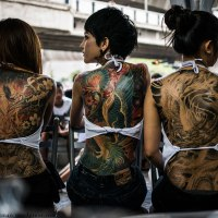 Back pieces by Ozzfest Tattoo Club Thailand
