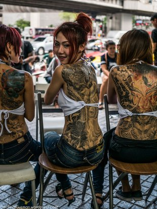 Amazing back pieces by Ozzfest Tattoo Club Thailand.