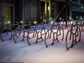 The bikes in Bjørvika