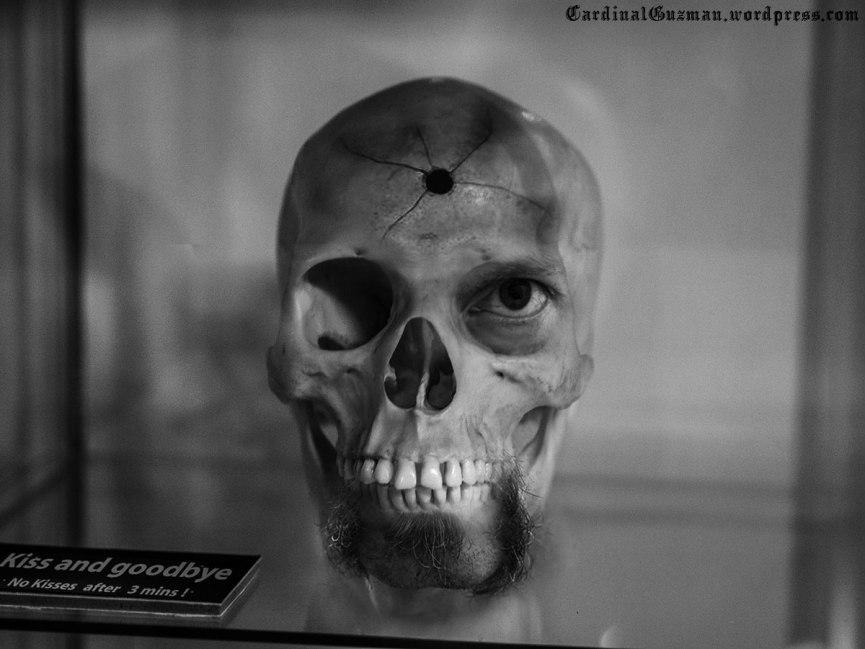 skull, kiss and goodbye, no kisses after 3 minutes
